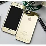 Zocardo Mirror Front Back Tempered Glass Screen Protector For Apple IPhone 4s - Gold With Free Soft Back Transparent Cover Worth Rupee 200