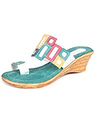 Creative Style Women's Casual Green Synthetic Sandals - Size 36