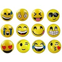 New Style Emoji Face Squeeze Balls 12 Assorted Emoji Face Balls ~ 3 Stress Relax Emotional Toy Balls