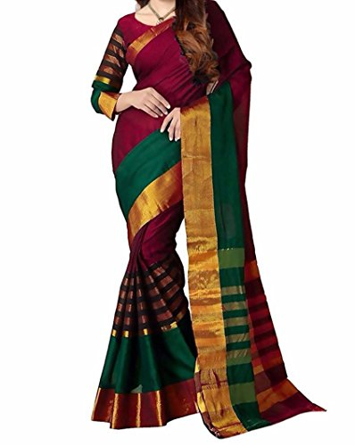 Sarees (Women's Clothing Saree For Women Latest Design Wear Sarees New Collection In RED Coloured BHAGALPURI SILK...
