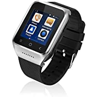 ZGPAX S8 Bluetooth 4.0 Smart Bracelet Watch Android 4.4 3G WCDMA GPS WiFi Android Apps HD Camera Etc Silver
