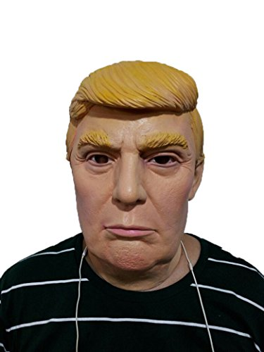Trump and Clinton Halloween Costumes - Choose Edgy or Funny - LMJMASK Hillary & Trump Face Mask (Donald Trump classical)
