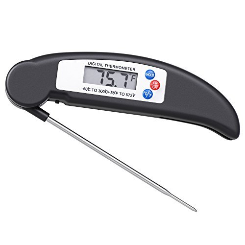 Homaz Accurate Instant-Read Thermometer Digital Meat Thermometer with Food-Safe Stainless Probe, Best...