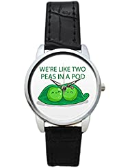 Bigowl We're Like Two Peas In A Pod Analog Women's Wrist Watch 2003795903-RS3-S-BLK