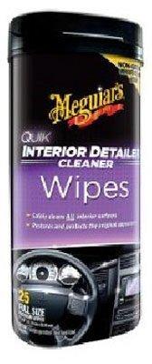 Meguiar's G13600 Quik Interior Detailer Wipes (25 wipes)