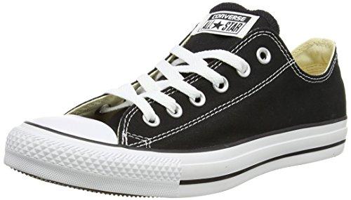 Converse Chuck Taylor All Star - Zapatos de lona, unisex, color negro/blanco (noir), talla 43