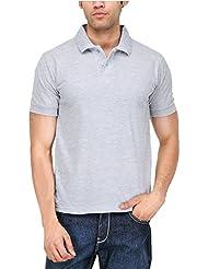 6 Degree Men Polo T-shirt (Grey Melange)