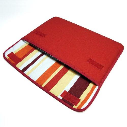 suono ハンドメイド MacBook Air ケース 11インチ用:FILO(レッド・オレンジストライプ)