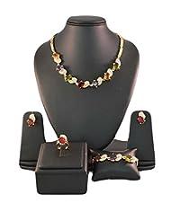 Multicolor Crystals Designer Jewellery Set