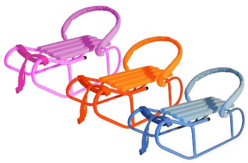 Baby Schlitten mit Rückenlehne und Zuggurt - verschiedene Farben - %% WSV %%