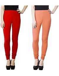 SPK Impact Women`s RUBY-CUT RED-PEACH Cotton Lycra Fitt Leggings
