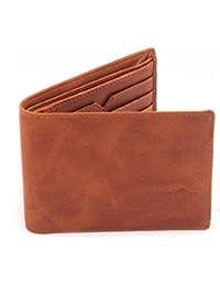Creature Classic Men's Leather Wallet||TAN||F-03||