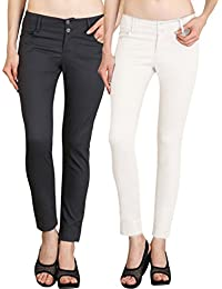 NGT Womens Formal White And Grey Trouser In Special Quality.