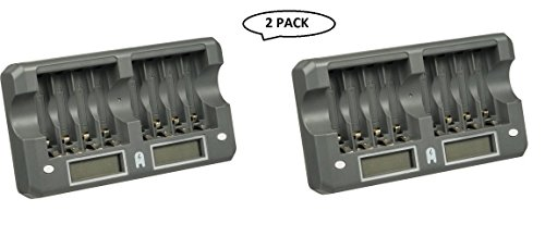 Good Quality Watson 8-Bay Rapid Charger For AA / AAA NiMH Or NiCd Rechargeable Batteries (2 Pack)