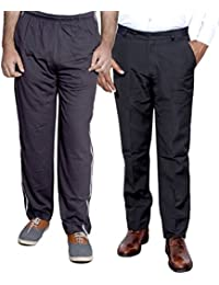 Indistar Mens Formal Trousers With Men's Premium Cotton Lower (Length Size -40) With 1 Zipper Pocket And 1 Open Pocket (Pack Of -1 Lower With 1 Trouser)