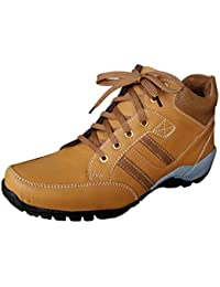 Gubatti Men's Tan Synthetic Leather Outdoor Casual Shoes