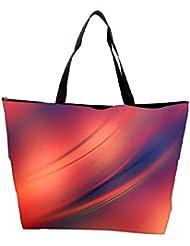 Snoogg Red And Orange Background Design Designer Waterproof Bag Made Of High Strength Nylon