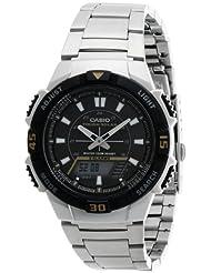 Casio Stopwatch Analog-Digital White Dial Men's Watch AQ-S800WD-7EVDF