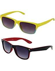 Rhodopsin Rectangular Sunglasses (Yellow, 2_Kids_Square_Way_Yellow_Red_24)
