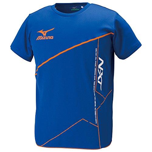 (ミズノ)MIZUNO 陸上競技 プラクティスシャツ U2MA5082 25 サーフブルー×オレンジ M