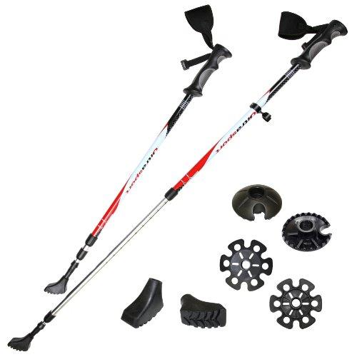 Ultrasport 3 en 1 - Bastón de senderismo, trekking y esquí para...