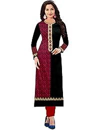 Ramdev Genesis Women's New Designed Printed Kurti Low Price On AMAZON (1015_Black_Printed_Kurti) Cotton Kurti