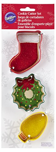 Wilton 3-Piece Christmas Metal Cookie Cutter Set