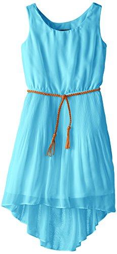 Amy Byer Big Girls' Chiffon High Low Dress with Belt