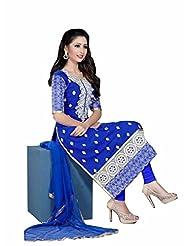Trendz Apparels Blue 60 Gm Georgette Straight Fit Salwar Suit