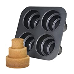 Chicago Metallic Multi Tier Cake Pan 4 Cavity 10.6 x 9.60 x 4.5 Inch