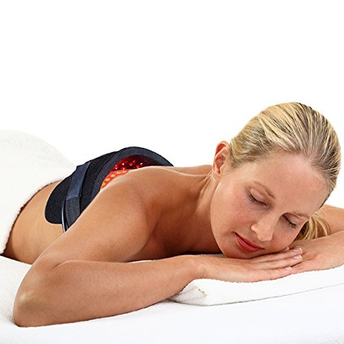 Woman using the FlexPad on her mid back