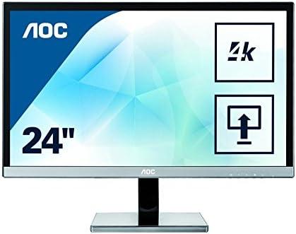 """AOC U2477PWQ PLS 23.6"""" Black,Silver 4K Ultra HD"""