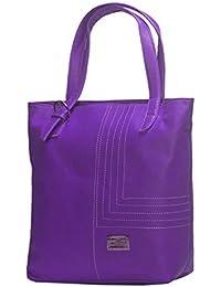 NOVICZ Latest Trendy PU Leather Ladies Bag Beautiful Shoulder Bag Women'S Hand Bag Vanity Bag College Bag Purple...