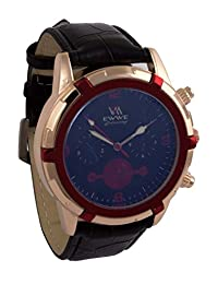 Addic EWWE Dark Blue Dial With Gold And Red Bezel With Black Straps Watch For Men (2)