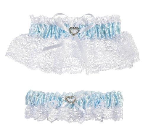 Darice V35921 Throw Away and Keep One Garter, Blue/White, 2 Per Pack