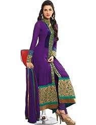 Fashion Hub Designer Women's Partywear Anarkali Salwar Suit Gown - B019WL0QZQ