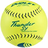 "Dudley USSSA Thunder SY Slow Pitch Softball - .47 COR - Stadium Stamp - 12 Pack, 12""/Yellow"