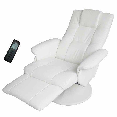 Fernsehsessel Massagesessel Relaxsessel Sessel Shiatsu Massage Weiss