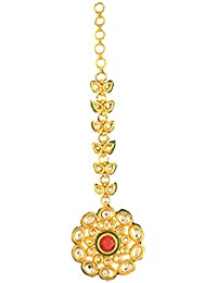 Dilan Jewels PURE Collection Gold Plated Kundan Statement Mang Tika For Women