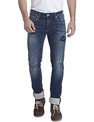 Jack & Jones Men's Casual Solid Skinny Fit Denim