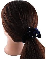 Anuradha Art Blue Colour Stylish Designer Hair Accessories Hair Band Stylish Rubber Band For Women/Girls