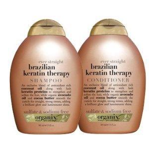 Amazon.com : Organix Brazilian Keratin Therapy Shampoo and