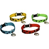 "12 PUPPY PAW Collar Friendship BRACELETS/Kitten/CAT/DOG/Paw Print PARTY FAVORS/Assorted Colors 7""/DO"