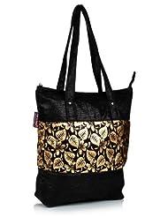 Home Heart Women's Eco Friendly Tote Bag (Gold/Black) - B00KG7V8QM