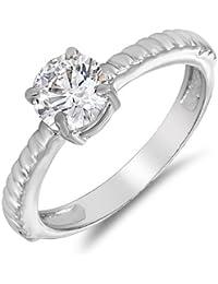 Mahi Rhodium Plated Motion Finger Ring Made With Swarovski Zirconia For Women FR1105010R