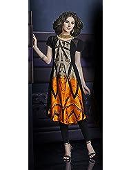 Deepkala Silk Heritage Women's Bright Georgette Printed Kurti