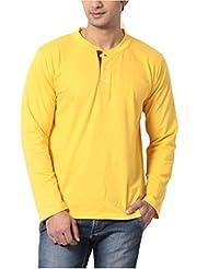 Leana Men's Button Front Cotton T-Shirt - B00QRCPP82