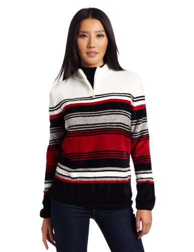 share photos from iphone to ipad alfred dunner s chenille stripe sweater multi large 19461