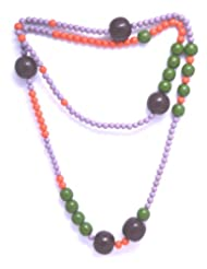 V3 Craft's Multi-Colored Resin Ball Beads Long Necklace For Women