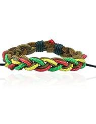 """ALPHA MAN """"Beautiful Tri Coloured Strings""""Black Woven Thread"""
